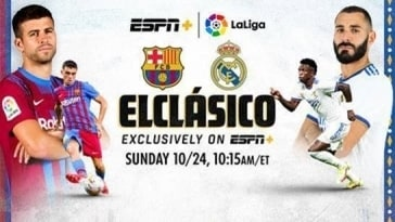 ElClásico: FC Barcelona vs. Real Madrid – Exclusively on ESPN+ Sunday, Oct. 24