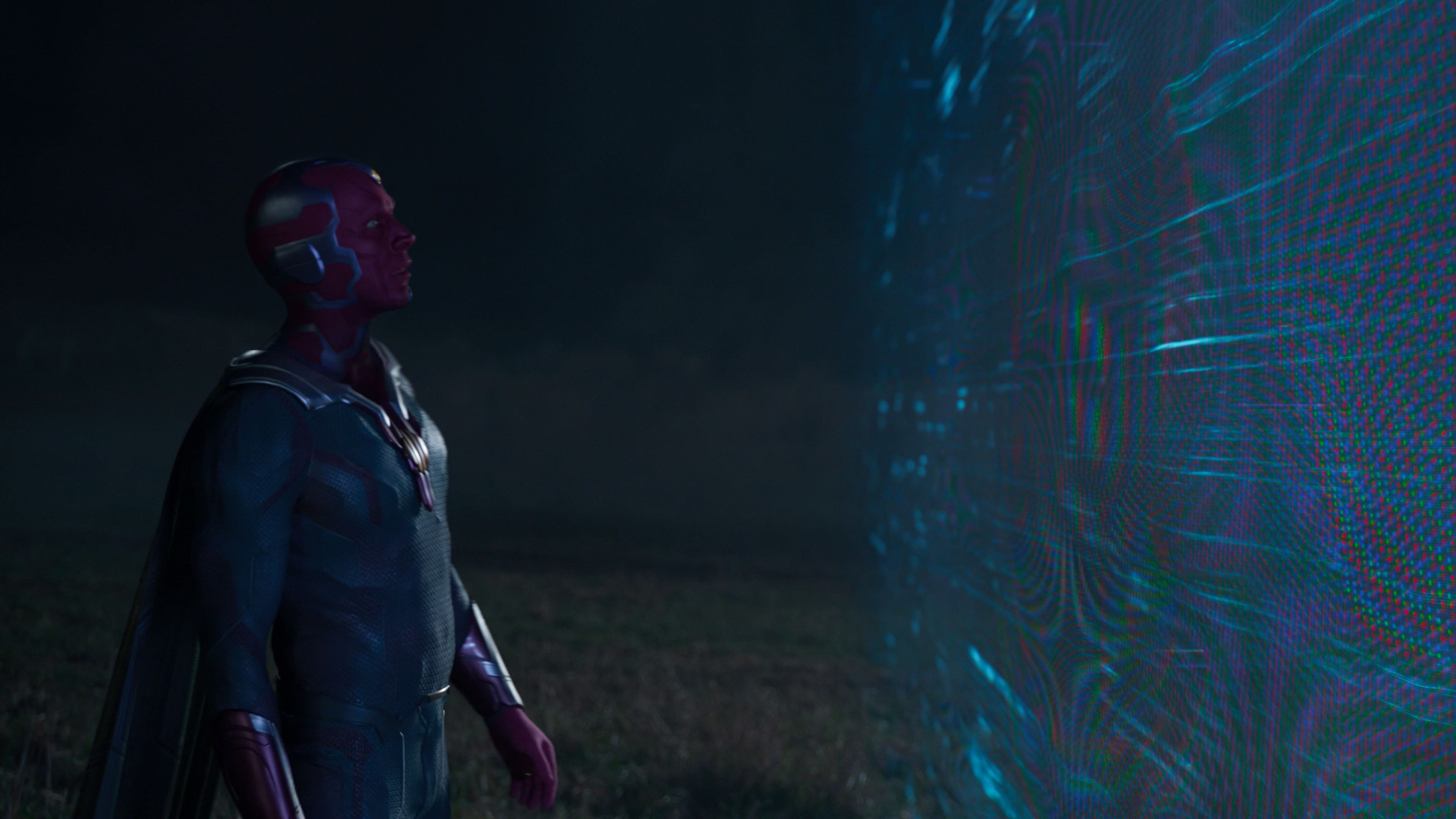 Paul Bettany as Vision in Marvel Studios' WANDAVISION exclusively on Disney+. Photo courtesy of Marvel Studios. ©Marvel Studios 2021. All Rights Reserved.