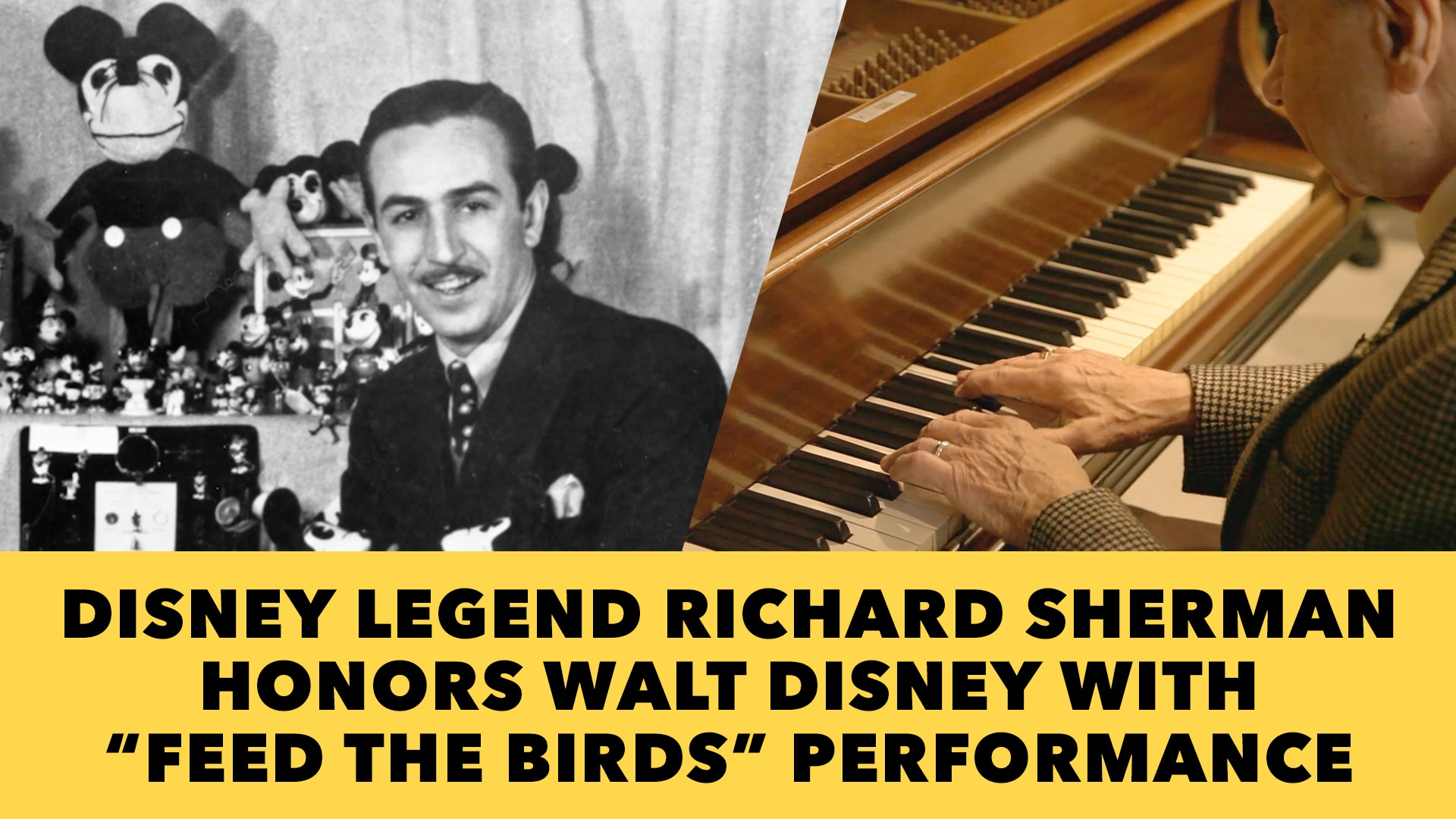 "Disney Legend Richard Sherman Honors Walt Disney with ""Feed the Birds"" Performance"