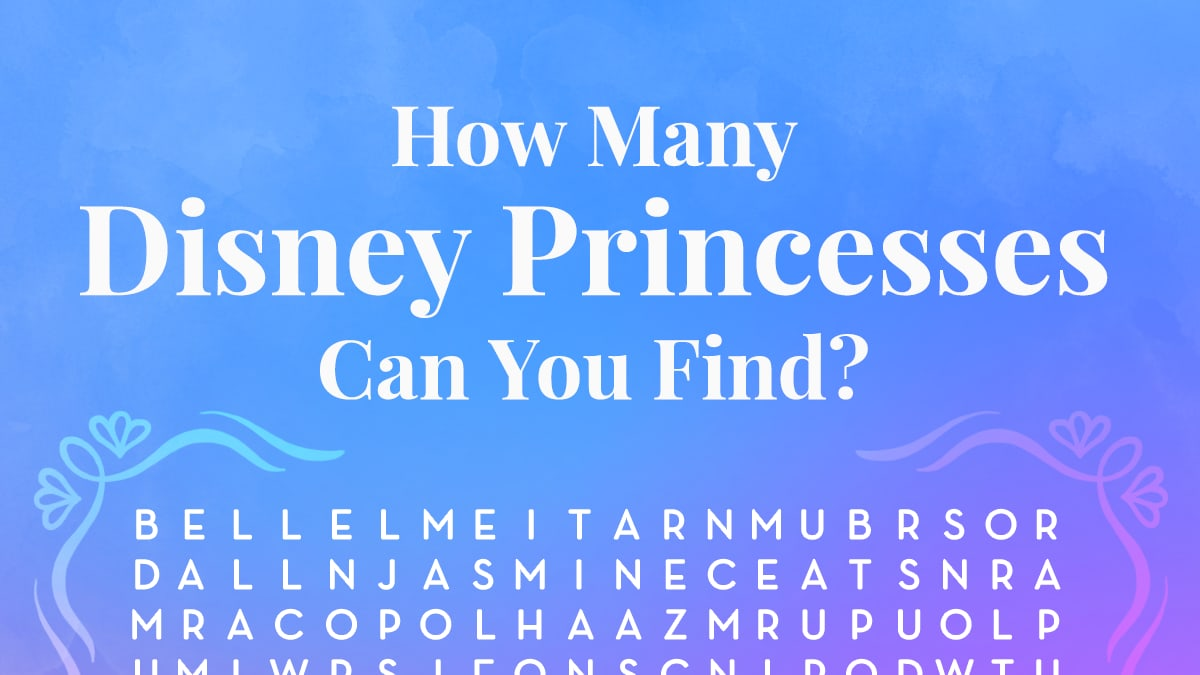 Dreams Do Come True With This Disney Princesses Word Search Puzzle!