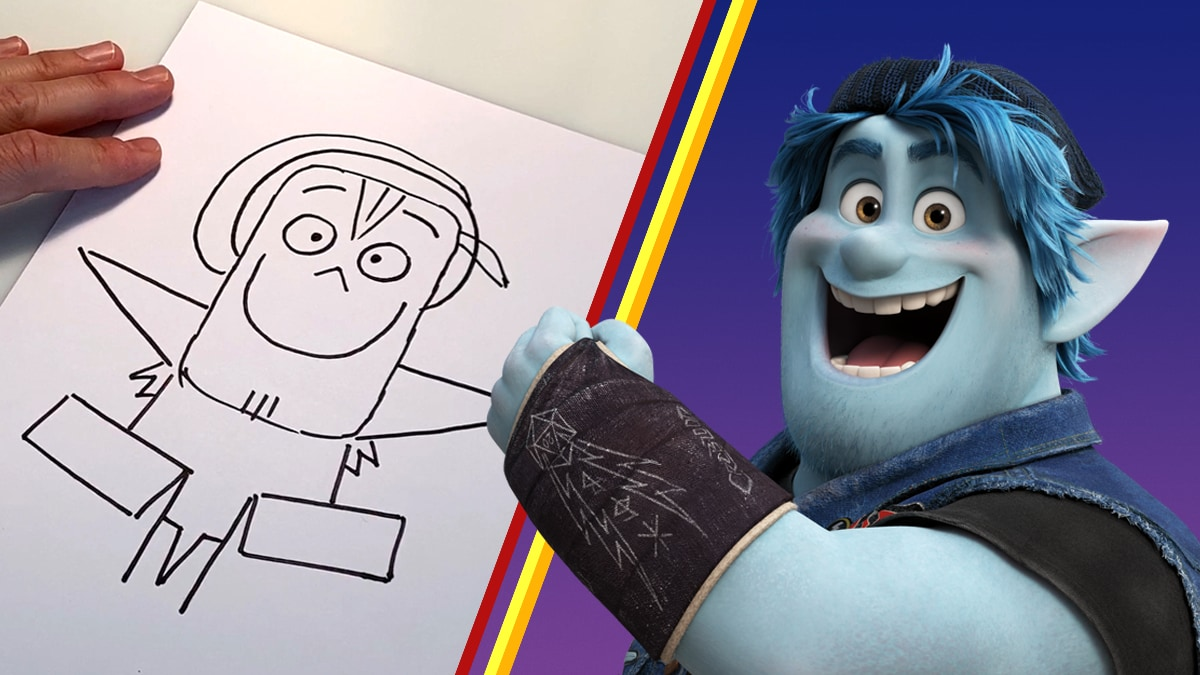Learn to Draw Barley from Onward with Pixar!
