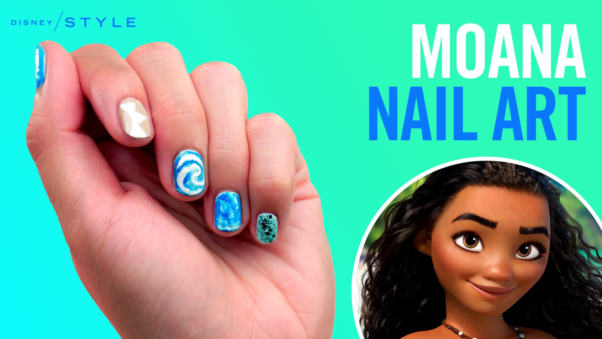 Moana Nail Art Tips Disney Style Disney Video