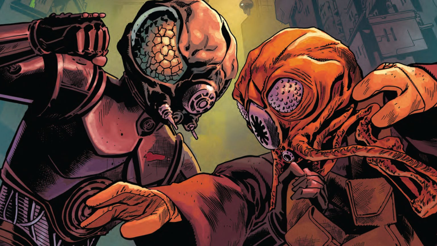 A Deadly Duo Rises in Marvel's Star Wars: War of the Bounty Hunters: 4-LOM & Zuckuss #1 - Exclusive Preview