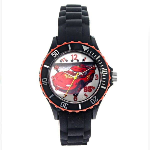 Disney Pixar Cars Unisex Black Silicon Strap Analog Watch