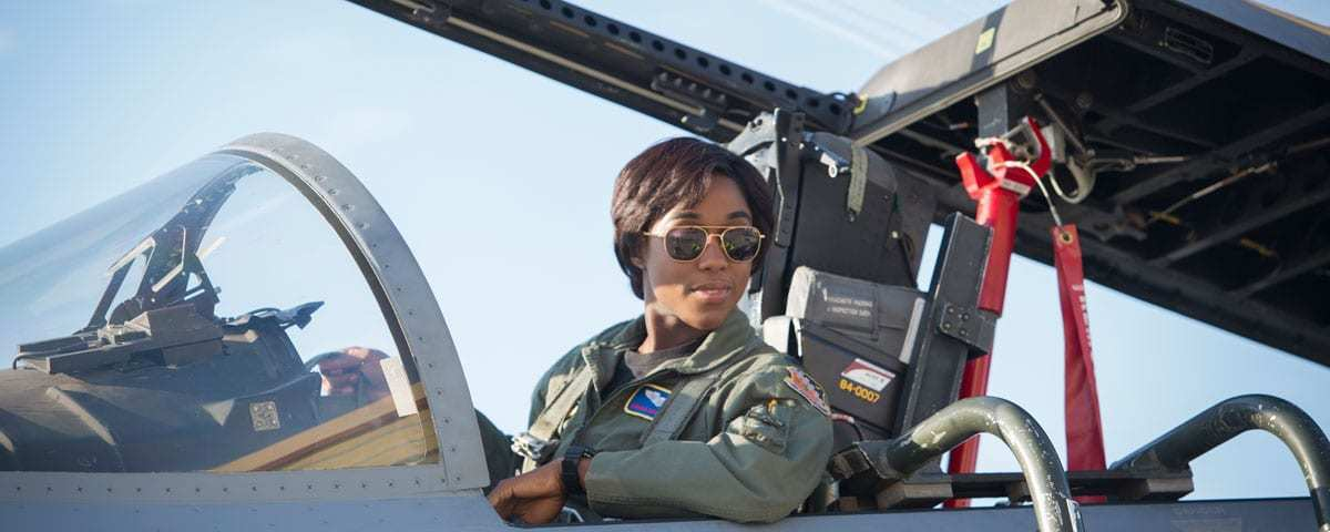 Lashana Lynch as Maria Lambeau in Captain Marvel