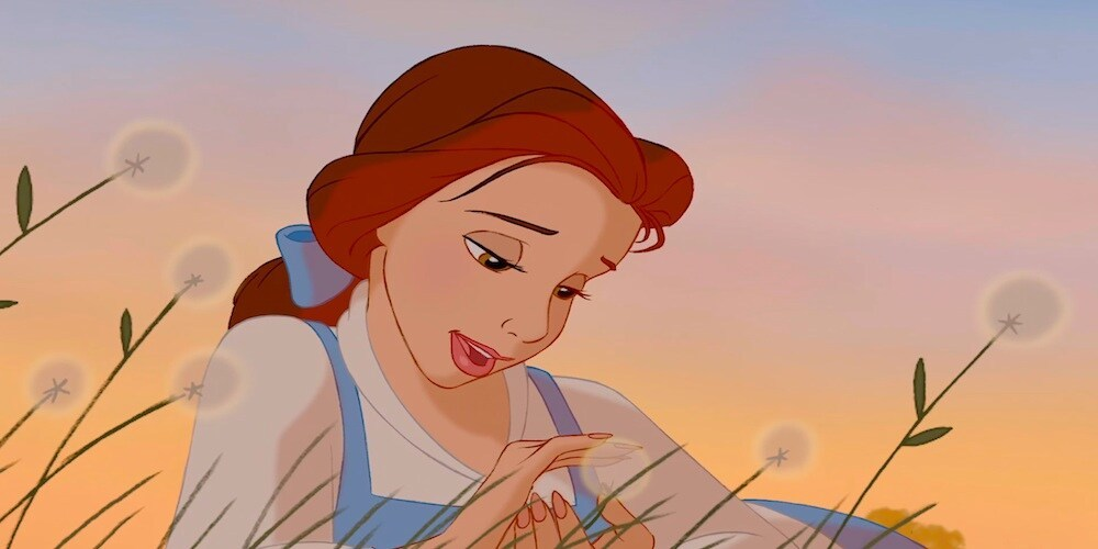"Belle from the animated movie ""Beauty and the Beast"""