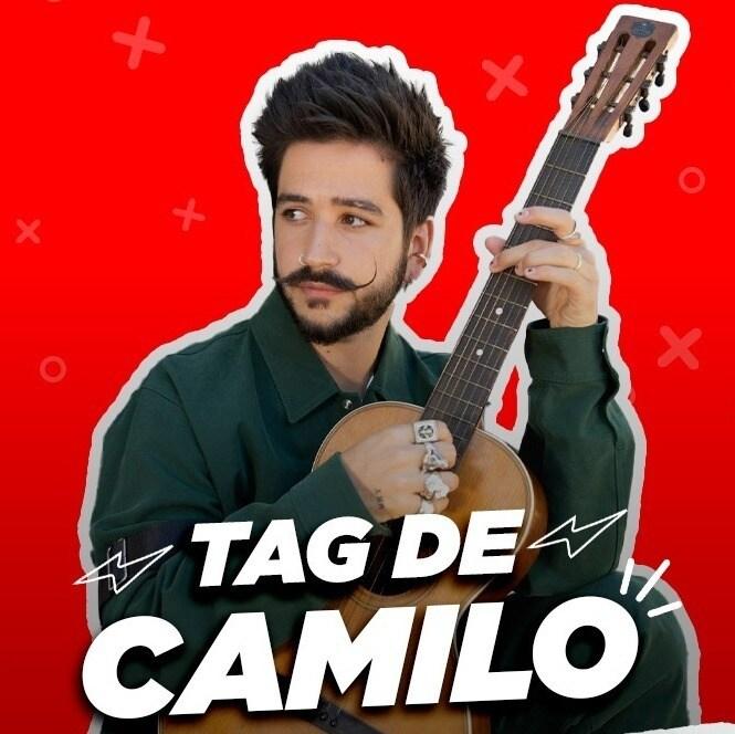 Tag de Camilo para ganar una guitarra autografiada