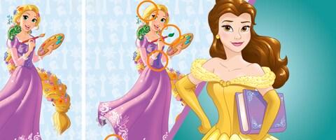 Descubra as diferenças das princesas