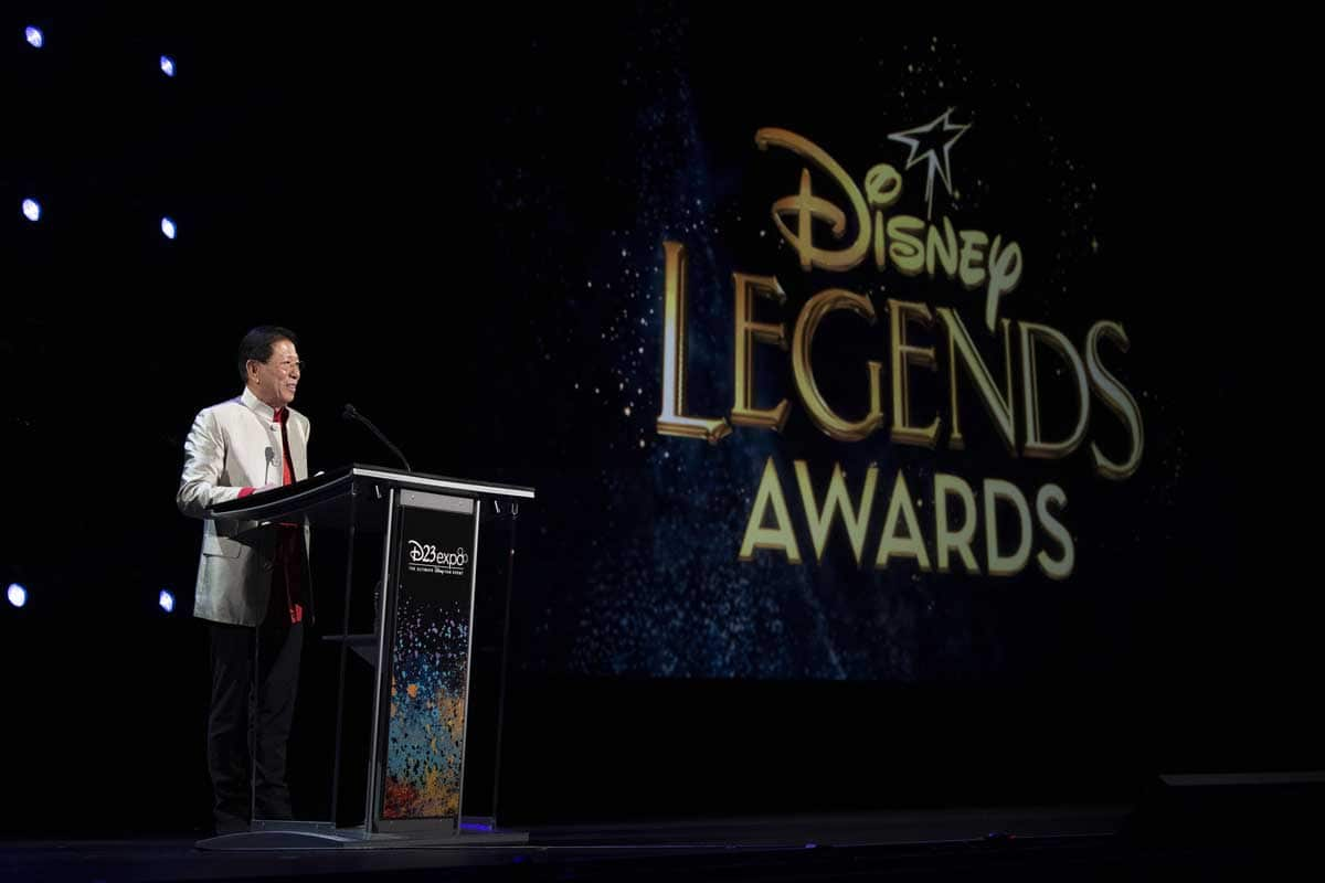 Wing T Chao at Disney Legends Awards Podium