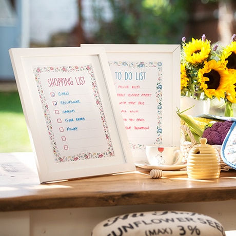 Craft: Cath Kidston Inspired Dry Erase Boards