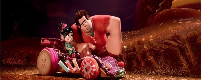 "Ralph and Vanellope in the animated movie ""Wreck-It Ralph"""