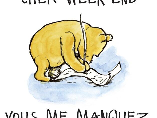 """Les bons mots de Winnie - Au travail : """"Cher week-end, vous me manquez"""""""