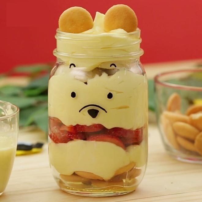 Bocaux de yaourt et miel de Winnie l'Ourson