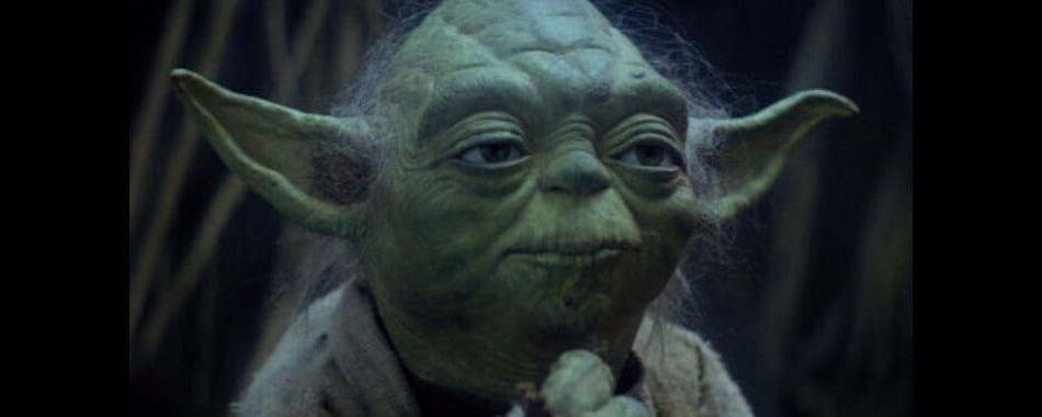 Yoda, a Jedi from the Star Wars Trilogy of movie