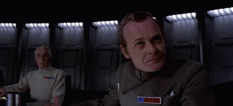 Wullf Yularen and Admiral Motti aboard the Death Star
