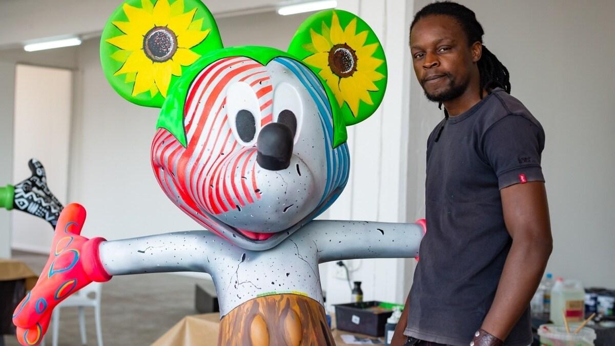 Mickey art collaboration