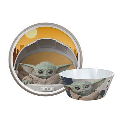 The Mandalorian Melamine Plate and Bowl