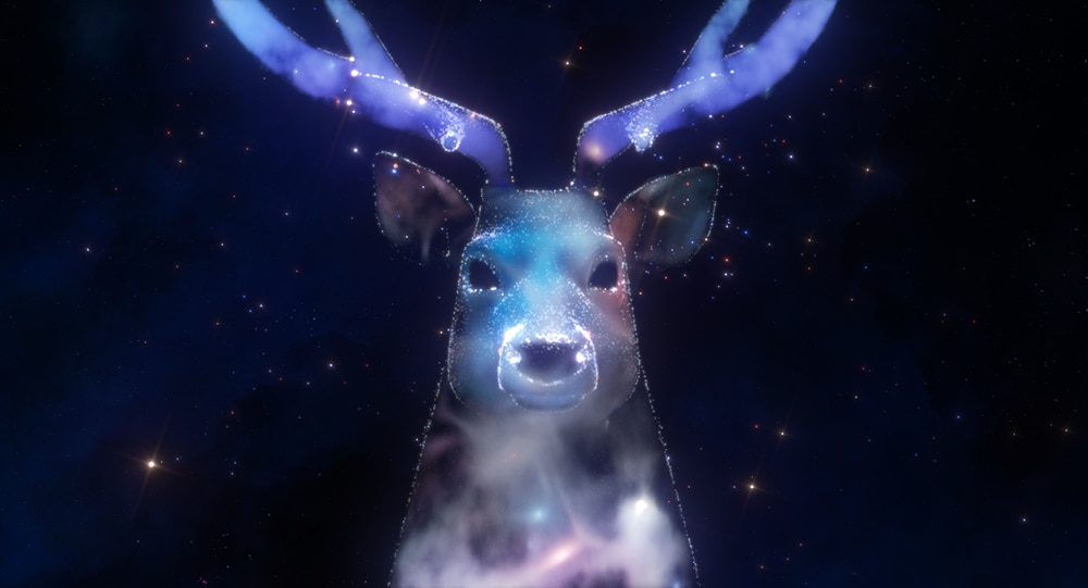 Cosmic deer from the short film Zenith